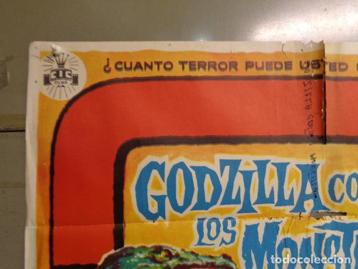 Cine: AAT76 GODZILLA CONTRA LOS MONSTRUOS ISHIRO HONDA SOLIGO POSTER ORIGINAL 70X100 ESTRENO - Foto 2 - 246486655