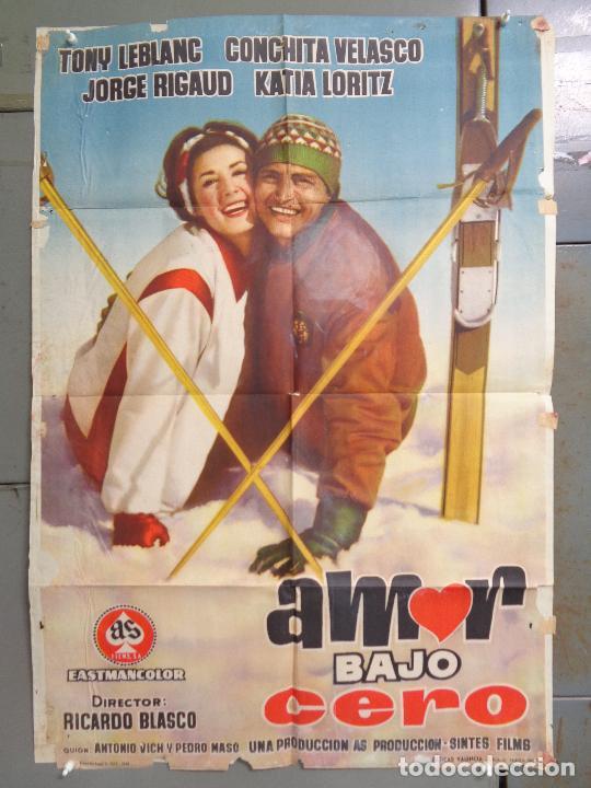 AAT83 AMOR BAJO CERO TONY LEBLANC CONCHA VELASCO ESQUI SKIING POSTER ORIGINAL 70X100 ESTRENO (Cine - Posters y Carteles - Deportes)