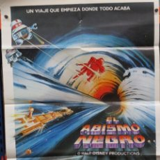 Cine: CARTEL ORIGINAL - EL ABISMO NEGRO - WALT DISNEY - MAXIMILIAN SCHELL - ANTHONY PERKINS -.100 X 70. Lote 246518885