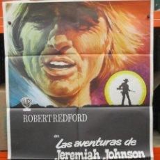 Cine: CARTEL ORIGINAL - LAS AVENTURAS DE JEREMIAH JOHNSON - ROBERT REDFORD -.100 X 70. Lote 246522130