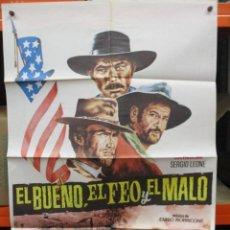 Cine: CARTEL ORIGINAL - EL BUENO EL FEO Y EL MALO - SERGIO LEONE -.100 X 70. Lote 246522950