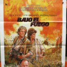 Cine: CARTEL ORIGINAL - BAJO EL FUEGO - NICK NOLTE - GENE HACKMAN - 100 X 70. Lote 246534235