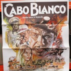 Cine: CARTEL ORIGINAL - CABO BLANCO - CHARLES BRONSON - FERNANDO REY - ILUSTRADOR MAC - 100 X 70. Lote 246537405