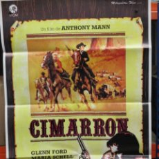 Cine: CARTEL ORIGINAL - CIMARRON - GLEN FORD - REPOSICION - 100 X 70. Lote 246537925