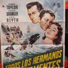 Cine: CARTEL ORIGINAL - TODOS LOS HERMANOS ERAN VALIENTES - - 100 X 70. Lote 246547685