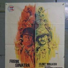 Cine: CDO 9229 TODOS ERAN VALIENTES FRANK SINATRA CLINT WALKER JANO POSTER ORIGINAL 70X100 ESTRENO. Lote 246551575