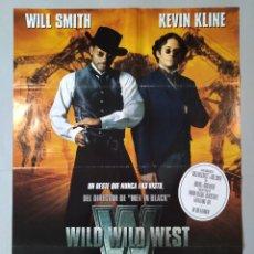 Cine: CARTEL CINE ORIGINAL - WILD WILD WEST - WILL SMITH - KEVIN KLINE- AÑO 1999...L3501. Lote 246620855