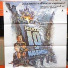 Cine: CARTEL ORIGINAL - FUERZA 10 DE NAVARONE - ROBERT SHAW - HARRISON FORD - 100 X 70. Lote 246654160