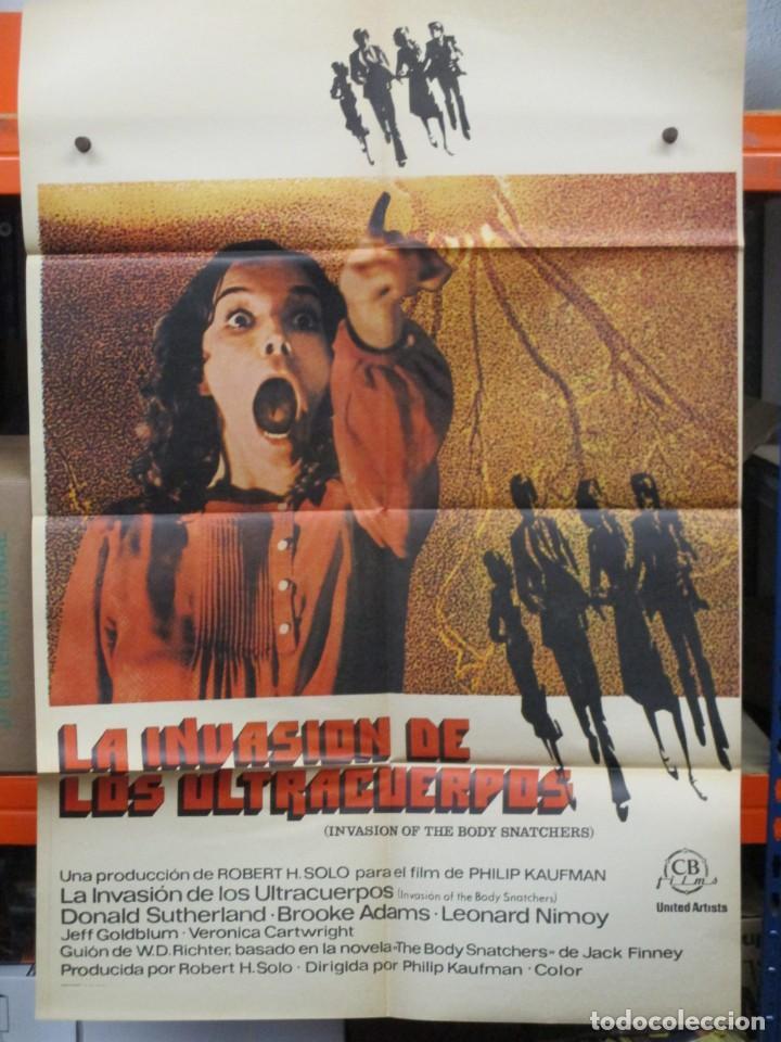 CARTEL ORIGINAL - LA INVASION DE LOS ULTRACUERPOS - DONALD SHUTERLAND - LEONARD NIMOY - 100 X 70 (Cine - Posters y Carteles - Ciencia Ficción)