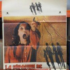 Cine: CARTEL ORIGINAL - LA INVASION DE LOS ULTRACUERPOS - DONALD SHUTERLAND - LEONARD NIMOY - 100 X 70. Lote 246655835