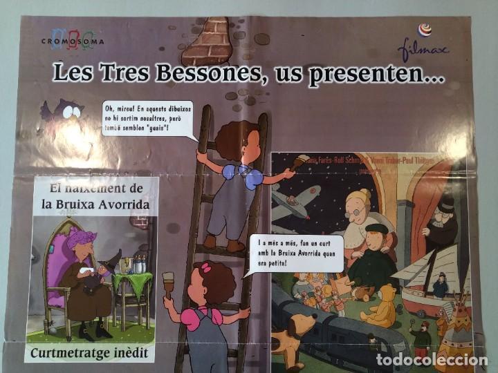 Cine: CARTEL CINE ORIGINAL - LES TRES BESSONES US PRESENTEN...EL NAIXEMENT DE LA BRUIXA AVORRIDA...L3507 - Foto 2 - 246646490