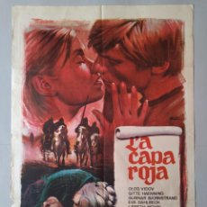 Cine: CARTEL CINE ORIGINAL - LA CAPA ROJA - OLEG VIDOV - GITTE HAENNING - AÑO 1967..L3512. Lote 246669195