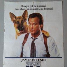 Cine: CARTEL CINE ORIGINAL - SUPER AGENTE K-9 - JAMES BELUSHI - MEL HARRIS - AÑO 1989 ...L3518. Lote 246697570