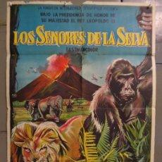 Cine: CDO 9248 LOS SEÑORES DE LA SELVA POSTER ORIGINAL 70X100 ESTRENO LITOGRAFIA. Lote 246702520