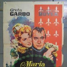 Cine: CDO 9249 MARIA WALEWSKA CONQUEST GRETA GARBO CHARLES BOYER NAPOLEON POSTER ORIG 70X100 ESPAÑOL R-63. Lote 246703365