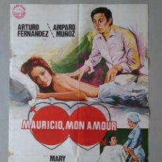 Cine: CARTEL CINE ORIGINAL - MAURICIO, MON AMOUR, ARTURO FERNANDEZ, AMPARO MUÑOZ - AÑO 1976 ...L3528. Lote 246722150
