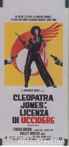 SH02D CLEOPATRA JONES TAMARA DOBSON BLAXPLOITATION POSTER ORIGINAL 33X70 ITALIANO (Cine - Posters y Carteles - Acción)