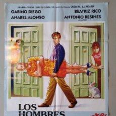 Cine: CARTEL CINE ORIGINAL - LOS HOMBRES SIEMPRE MIENTEN - GABINO DIEGO - ANABEL ALONSO - AÑO 1995...L3537. Lote 246846930