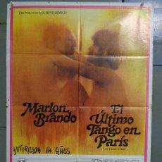 Cine: CDO 9287 EL ULTIMO TANGO EN PARIS BERNARDO BERTOLUCCI MARLON BRANDO POSTER ORIGINAL 70X100 ESTRENO. Lote 246854655