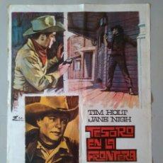 Cine: CARTEL CINE ORIGINAL - TESORO EN LA FRONTERA - TIM HOLF - JANE NIGH - AÑO 1968 ...L3542. Lote 246856940