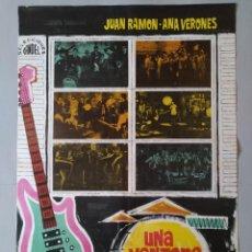 Cine: CARTEL CINE ORIGINAL - UNA VENTANA AL ÉXITO - JUAN RAMON - ANA VERONES - AÑO 1967 ...L3543. Lote 246863125