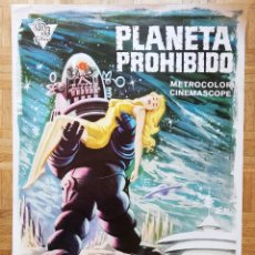 Cine: POSTER EL PLANETA PROHIBIDO FORBIDDEN PLANET 97X68,5 CM CARTEL. Lote 246895600