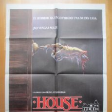 Cinéma: CARTEL CINE HOUSE UNA CASA ALUCINANTE WILLIAM KATT 1985 C1860. Lote 246911860