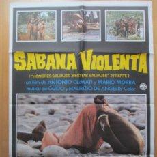 Cine: CARTEL CINE, SABANA VIOLENTA, ANTONIO CLIMATI, MARIO MORRA, 1979, C636. Lote 246936145