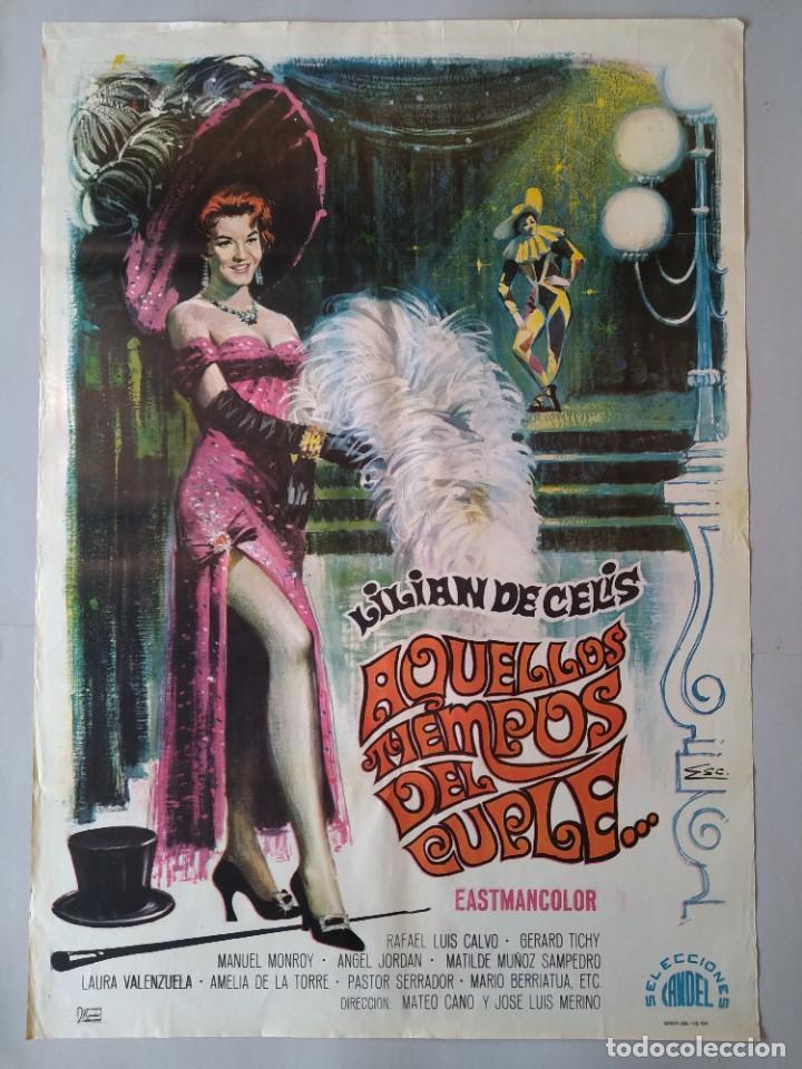 CARTEL CINE ORIGINAL - AQUELLOS TIEMPOS DEL CUPLÉ - LILIÁN DE CELIS - AÑO 1958 ...L3545 (Cine - Posters y Carteles - Musicales)