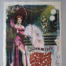 Cine: CARTEL CINE ORIGINAL - AQUELLOS TIEMPOS DEL CUPLÉ - LILIÁN DE CELIS - AÑO 1958 ...L3545. Lote 246872380