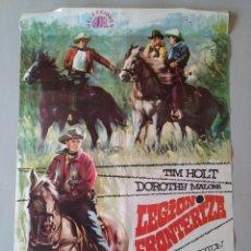 Cine: CARTEL CINE ORIGINAL - LEGIÓN FRONTERIZA - TIM HOLT - DOROTHY MALONE - AÑO 1968 ...L3548. Lote 247042245
