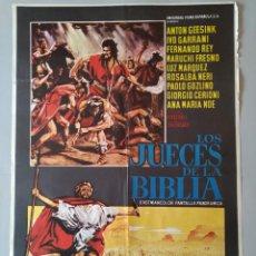 Cine: CARTEL CINE ORIGINAL - LOS JUECES DE LA BIBLIA - ANTON GEESINK - IVO GARRANI - AÑO 1966 ...L3551. Lote 247051165