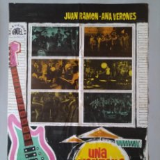 Cine: CARTEL CINE ORIGINAL - UNA VENTANA AL ÉXITO - JUAN RAMON - ANA VERONES - AÑO 1967...L3553. Lote 247053145