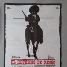 Cine: CARTEL CINE ORIGINAL - EL RETORNO DE RINGO - GIULIANO GEMMA - FERNANDO SANCHO AÑO 1966...L3554. Lote 247053955
