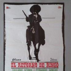 Cine: CARTEL CINE ORIGINAL - EL RETORNO DE RINGO - GIULIANO GEMMA - FERNANDO SANCHO AÑO 1966...L3555. Lote 247054685