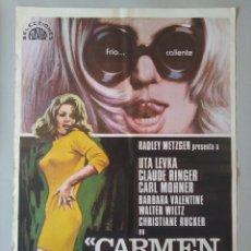 Cine: CARTEL CINE ORIGINAL - CARMEN BABY, LA FEMINA TOTAL - UTA LEVKA - AÑO 1978...L3556. Lote 247056090