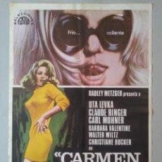 Cine: CARTEL CINE ORIGINAL - CARMEN BABY, LA FEMINA TOTAL - UTA LEVKA - AÑO 1978...L3557. Lote 247056155