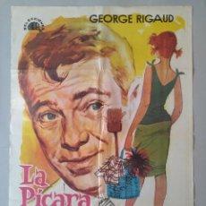 Cine: CARTEL CINE ORIGINAL - LA PICARA CENICIENTA - GEORGE RIGAUD - MARGOT COTTENS - AÑO 1964...L3558. Lote 247057450