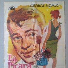 Cine: CARTEL CINE ORIGINAL - LA PICARA CENICIENTA - GEORGE RIGAUD - MARGOT COTTENS - AÑO 1964...L3559. Lote 247057740
