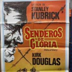 Cinema: CARTEL ORIGINAL DE EPOCA -SENDEROS DE GLORIA - KIRK DOUGLAS - STANLEY KUBRICK. Lote 247076665