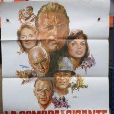 Cine: CARTEL ORIGINAL DE EPOCA - LA SOMBRA DE UN GIGANTE - KIRK DOUGLAS - YUL BRYNNER - FRANK SINATRA. Lote 247078485