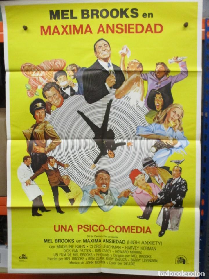 CARTEL ORIGINAL DE EPOCA - MAXIMA ANSIEDAD - MEL BROOKS - 100 X 70 (Cine - Posters y Carteles - Comedia)