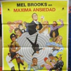 Cine: CARTEL ORIGINAL DE EPOCA - MAXIMA ANSIEDAD - MEL BROOKS - 100 X 70. Lote 247094255