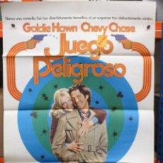 Cine: CARTEL ORIGINAL DE EPOCA - JUEGO PELIGROSO - CHEVY CHASE - GOLDIE HAWN - 100 X 70. Lote 247101380