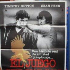 Cine: CARTEL ORIGINAL DE EPOCA - EL JUEGO DEL HALCON - TIMOTHY HUTTON - SEAN PENN - 100 X 70. Lote 247101790