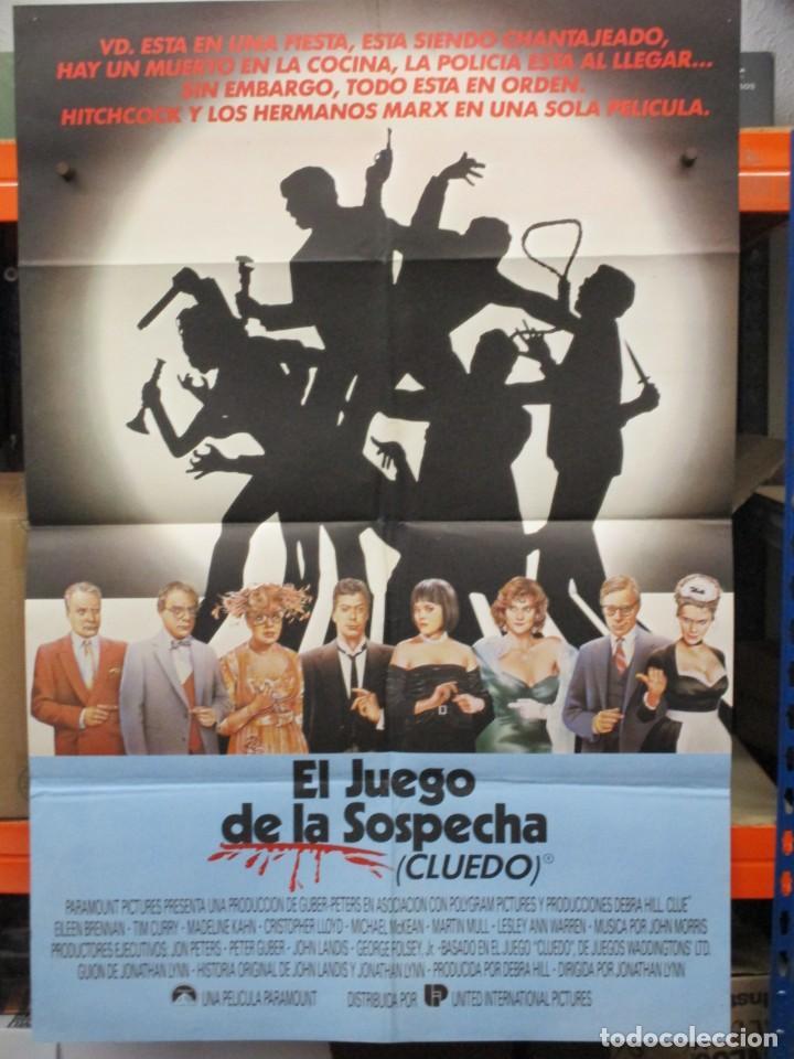 CARTEL ORIGINAL DE EPOCA - EL JUEGO DE LA SOSPECHA - CLUEDO - - 100 X 70 (Cine - Posters y Carteles - Comedia)