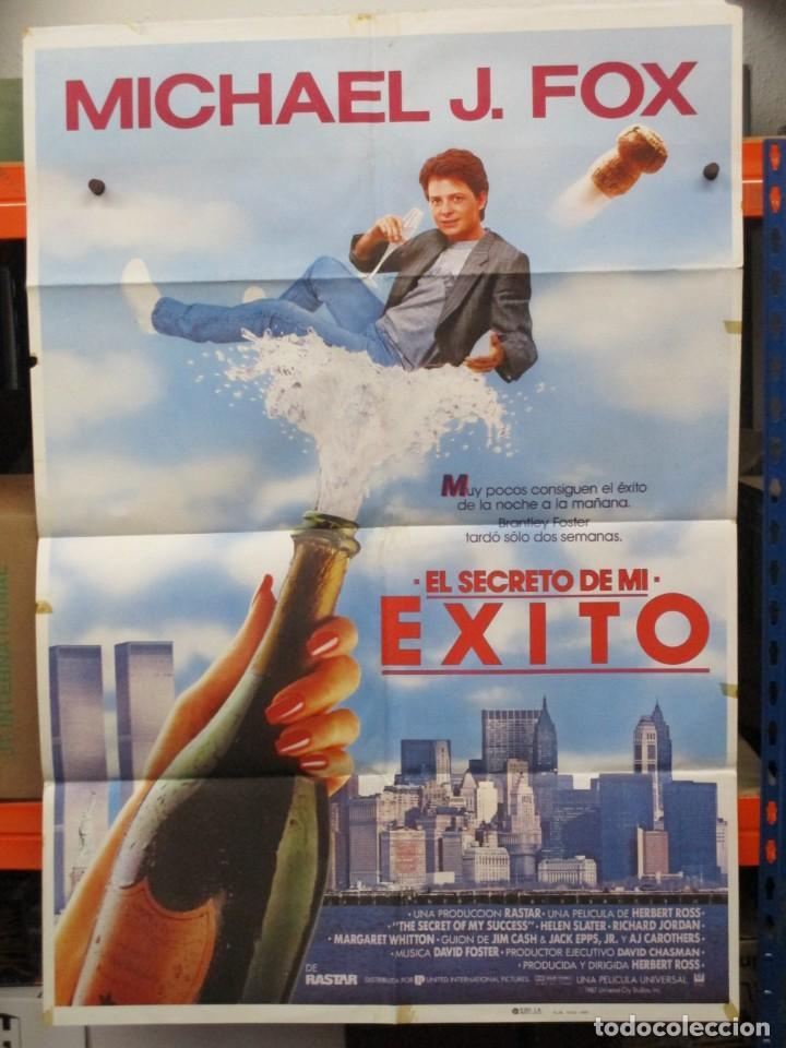 CARTEL ORIGINAL DE EPOCA - EL SECRETO DE MI EXITO - MICHAEL J FOX - 100 X 70 (Cine - Posters y Carteles - Comedia)