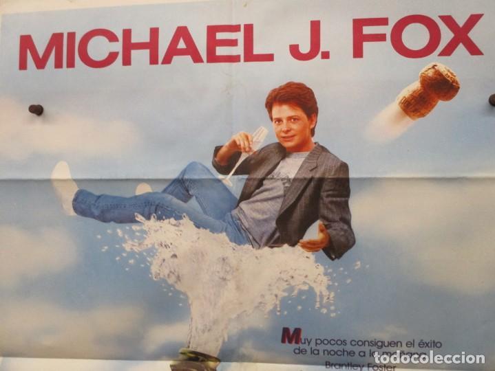 Cine: CARTEL ORIGINAL DE EPOCA - EL SECRETO DE MI EXITO - MICHAEL J FOX - 100 X 70 - Foto 2 - 247166615