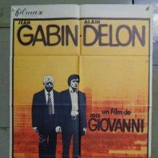 Cine: CDO 9356 DOS HOMBRES EN LA CIUDAD ALAIN DELON JEAN GABIN POSTER ORIGINAL 70X100 ESTRENO. Lote 247189795