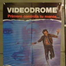 Cine: AAU27 VIDEODROME DAVID CRONENBERG JAMES WOODS POSTER ORIGINAL ESTRENO 70X100. Lote 247299180